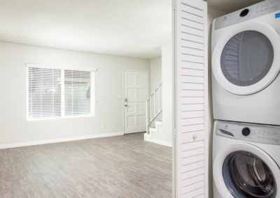 Washer and Dryer in your townhome to make life easier
