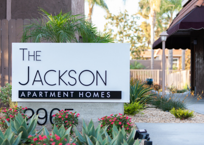 2965 The Jackson Apartment Homes Sign