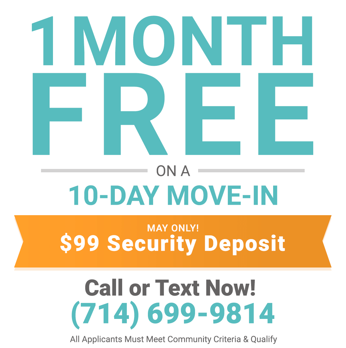 1 month free only during May